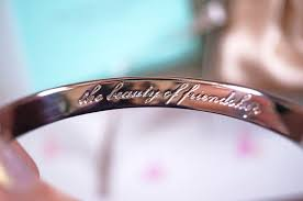 engraved bracelets gift idea tales from the earth engraved silver bracelet thou