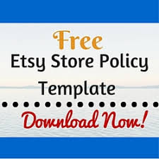 free etsy store policy template craft maker pro inventory and
