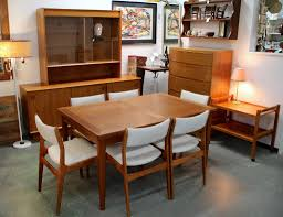 Set Of Teak Dining Table Chair Teak Dining Table Chairs Set 1960s For Sale At Pamono And