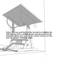 Drafting Table Plans Designing A Draftsman S Table With Sketchup