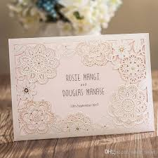 lace invitations new 2017 white lace flora wedding invitations cards laser cut