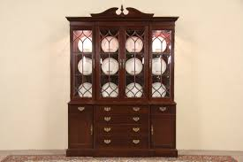 Vintage China Cabinets Sold Knob Creek Cherry Breakfront 1992 Vintage China Cabinet