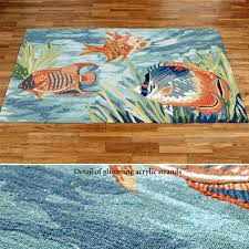 Orange Outdoor Rug by Tails Of The Sea Indoor Outdoor Fish Rugs