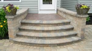 Making A Paver Patio by This Homeowner Did Away With The Concrete Stoop And Stairs And