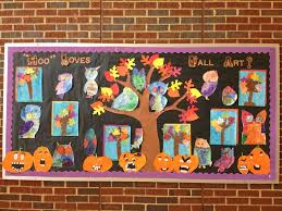 Hoo Loves Fall Art Bulletin Board Idea MyClassroomIdeas