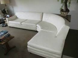 mid century modern sofa with chaise vintage mid century modern curved sectional sofa