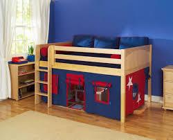 Bedroom Enchanting Kid Bedroom Decoration Using Blue Kid Room Wall - Ikea wooden bunk beds