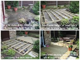 Laying Patio Slabs Building Decking Over Uneven Patio Slabs To Create A Sunny Sitting