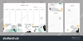to do planner template weekly planner template organizer schedule notes stock vector weekly planner template organizer and schedule with notes and to do list vector