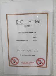 prix chambre hotel prix affiché en chambre picture of etc hotel strasbourg tripadvisor