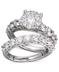 wedding ring set diamond bridal ring set in 14k white gold or gold 2 ct t w
