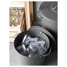 Bedroom Trash Cans For Girls Knodd Bin With Lid Gray 4 Gallon Ikea