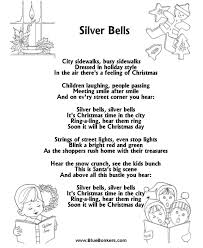 bluebonkers silver bells free printable carol lyrics