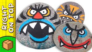 crafts ideas for kids stone face painting diy on boxyourself