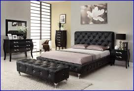 Black Upholstered Headboard Modern Traditional Bedroom Design Black Upholstered Tufted Bed