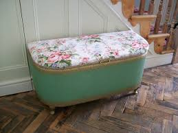 Vintage Storage Ottoman Details About Vintage Lloyd Loom Style Type Bedroom Ottoman Cream