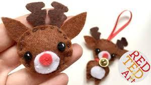 kawaii reindeer badge ornament diy sewing for