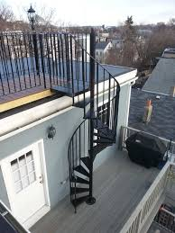 nice and appealing wrought iron spiral staircase telegraph hill roof deck with wrought iron railings spiral stairs