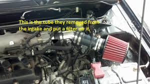 nissan sentra air intake hose crankcase breather filter