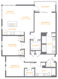one two and three bedroom apartments floor plans