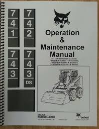 bobcat 743 operation operator maintenance manual hi s n finney