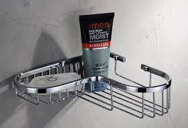 modern wire basket shower shelf sanliv bathroom accessories for