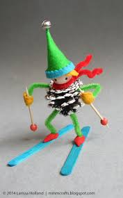 handmade gifts 2014 downhill skier ornament for trent mmmcrafts