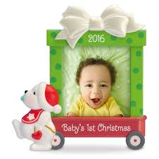 1st Christmas Decorations Beary Cute Baby U0027s First Christmas Photo Holder Ornament Keepsake