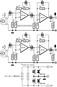 playback lifier for cassette deck circuit diagram
