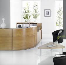 Corner Reception Desk Semicircular Reception Desk Corner Modular Wooden Hawk