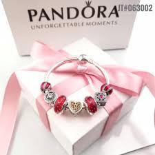 bracelet luxury charms images Authentic pandora luxury bangle charm bracelet with 7pcs red theme JPG