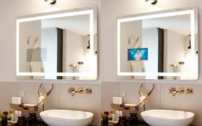 ad notam u2013 hidden technologies mirror tv glass tv lighted