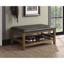 Padded Ottomans Coffee Table Storage Modern Wood Padded Tables Leather Ottoman