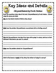 copy of chrysanthemum lessons tes teach