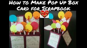 tutorial scrapbook card how to make pop up box card for scrapbook diy pop up box card