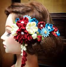 hair ornaments 294 best kanzashi and other hair ornaments images on