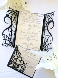 halloween stuff on black background gothic halloween wedding party invitation set on etsy would make