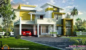 Green Home Design Kerala Beautiful Rendering Of Contemporary Home Kerala Home Design And