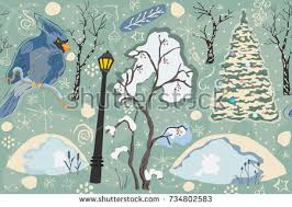 cardinal woodlandforest merry christmaswinter collection