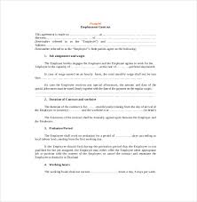contract agreement template u2013 17 free word pdf document download