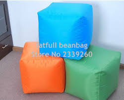 Bean Bag Ottoman Cover Only No Filler 2016 Square Many Colors Sitting Cube Outdoor