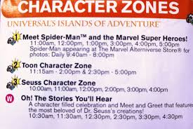 Map Of Islands Of Adventure Orlando by Character Meet And Greets At Universal Orlando Complete Guide