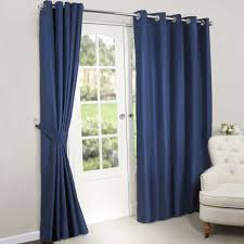 Blackout Navy Curtains Navy Blackout Lined Eyelet Curtains Dunelm