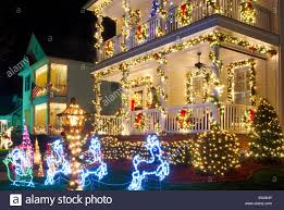 these traditional victorian style homes in a christmas town