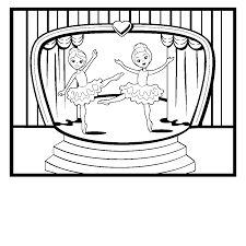 unbelievable ballet dancing coloring page with ballet