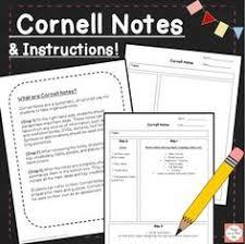 cornell notes intro template classroom ideas 6th grade