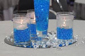 blue centerpieces blue wedding centerpieces for creating wedding atmosphere