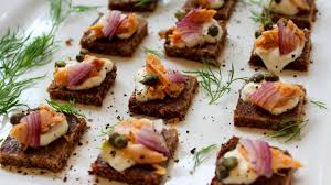 rye bread canapes smoked salmon and caper canapés seafood experts