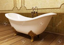 beautiful retro bathroom in eclectic style stock photo picture