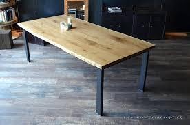 comment faire une table de cuisine table en bois de cuisine free table carre bois de pin recycl with